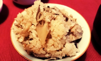 山菜と塩麴の炊き込みご飯