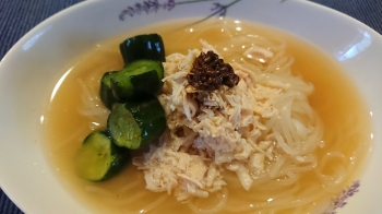 盛岡冷麺の塩麴&しょうゆ麹和風アレンジ