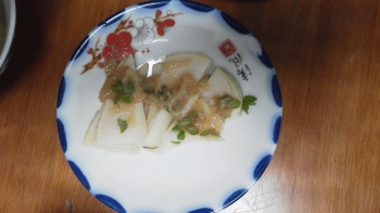 竹の子の酢味噌和え(ほたる麦みそ使用)